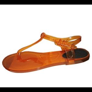 8e0748a4d257 Chloe Shoes - Chloe Logo Jelly Flip Flop Rubber Thong Sandal